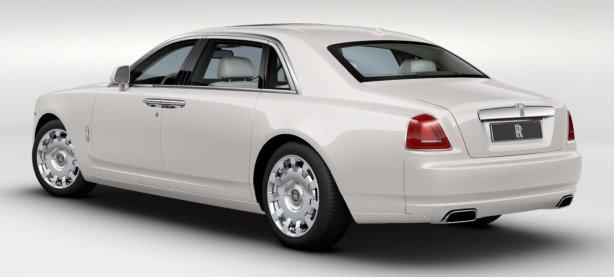 Rolls Royce Ghost EWB in English White