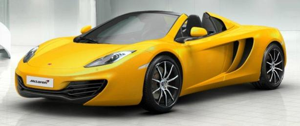 McLaren 12C Spider in Volcano Yellow