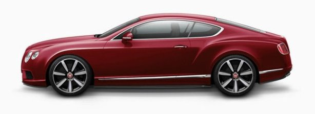 Bentley Continental GT V8 in Dragon Red