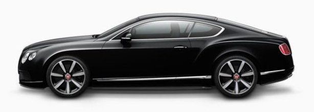 Bentley Continenetal GT V8 in Onyx Black