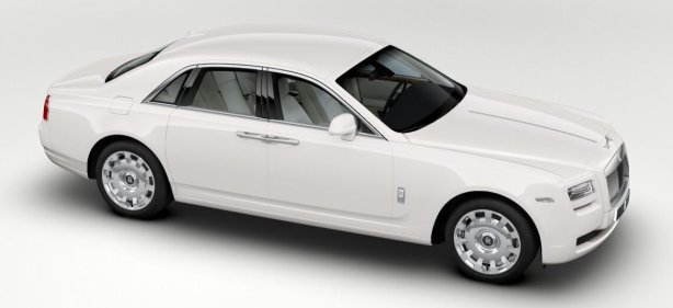 Rolls Royce Ghost in English White