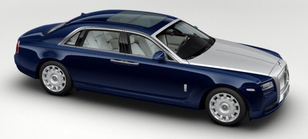 Rolls Royce Ghost EWB in Royal Blue