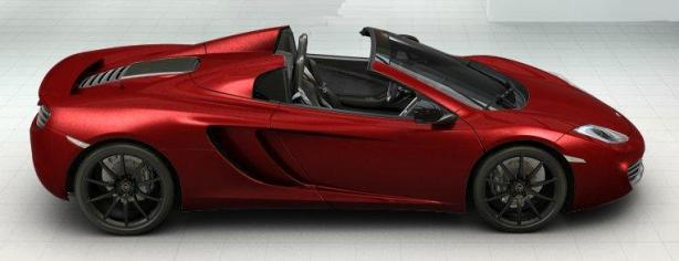 McLaren 12C Spider in Volcano Red