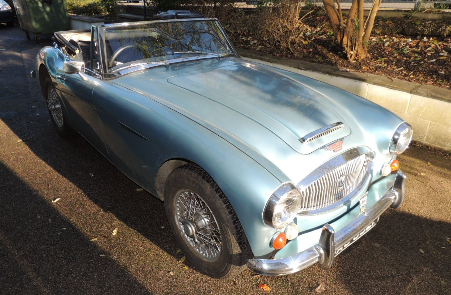 1967 Austin Healey 3000 Mk III in Ice Blue
