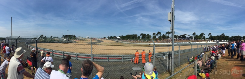 Decent vantage point for the first few laps